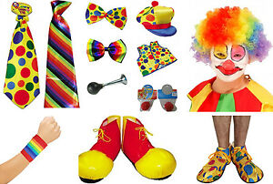 New-Complete-Circus-Clown-Costume-Fancy-Dress-Accessories-in-One-Listing