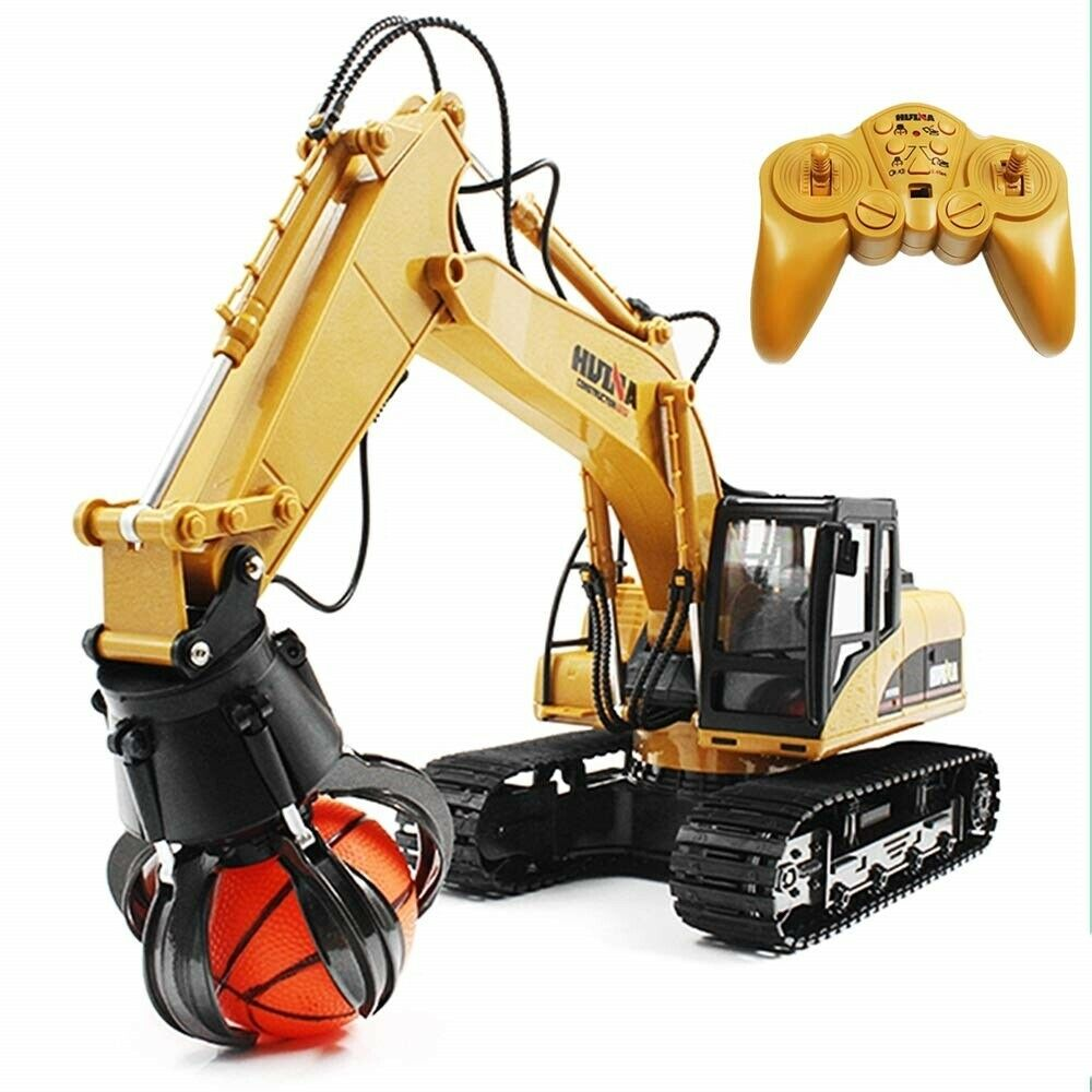 HuiNa giocattoli 1571 16 Channel 1 14RC 2.4GH Metal Grab Loader RC Charging Gripper