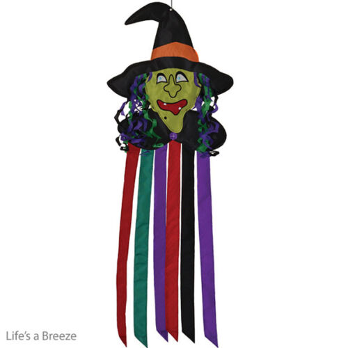 Witch Windtail Hang In A Garden. 2D Graphic Design. Halloween Witch