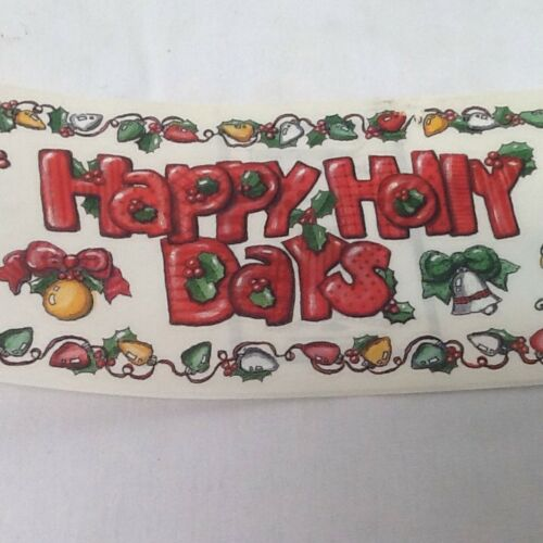 """Christmas 12/"""" Borders Happy Holly Days Stockings Lights SCRAPBOOKING Stickers"""