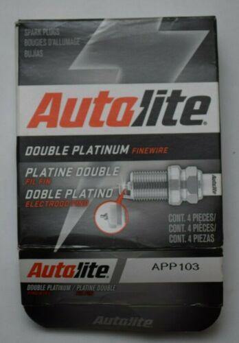 4 x Autolite Double Platinum Core Spark Plugs Resistor Tapered 14mm x 1.25