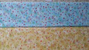Baumwollstoff-12-m-0-3m-kleine-Blumen-1-5m-breit