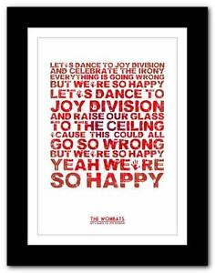 THE-WOMBATS-Let-039-s-Dance-To-Joy-Division-poster-art-print-A1-A2-A3-or-A4