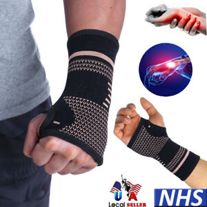 Wrist-Support-Hand-Palm-Brace-Compression-Glove-Sleeves-Arthritis-Copper-Infused