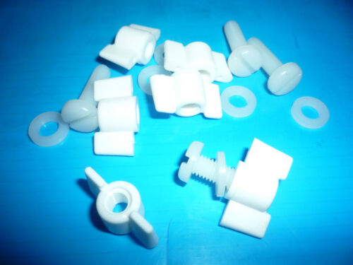 6mm M6 Special WING Nuts /& Washers Slot Pack of 10 NYLON Pan Head Bolts