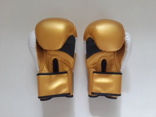 Everlast Unleash Your Warrior Boxing Gloves Bag Mitt Training Gold 10 12 14oz