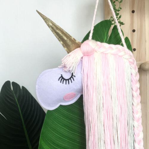 Unicorn Girl Hairband Holder Hair Clip Storage Organizer Home Hanging Wall Decor