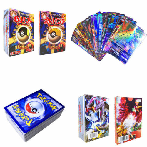 120pcs Pokemon Cards 100 GX 20 MEGA Booster Box English Edition Break Point UK