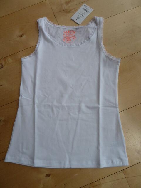 CHEMISE DE NUIT / Top, blanc de Sanetta taille gr.140-176