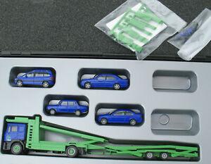Herpa - IAA 1999 Autotransporter Set - MAN LKW + 4x PKW - 1:87 Opel BMW Mercedes