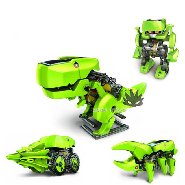 4 In 1 Rechargeable Solar Power Robot Educational Model Building Kits Toy DIY Ne