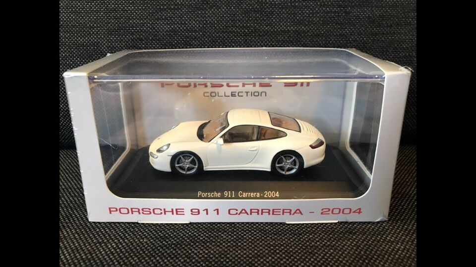 Modelbil, Atlas Porsche 911 Carrera 2004, skala 1:43