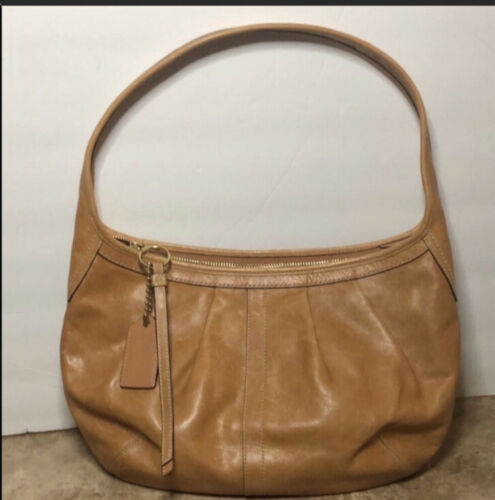 Vintage Ergo Coach pleated bag preowned condition