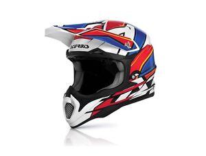 Casco-Acerbis-Impact-Rosso-Blu-Moto-Cross-Enduro-Motard-ATV-Quad-Helmet-Casque