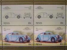 1934 VOISIN AERODYNE Car 50-Stamp Sheet / Auto 100 Leaders of the World