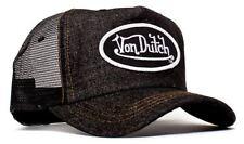 Authentic Brand New Von Dutch Denim Signature Painted Cap Hat Mesh Snapback