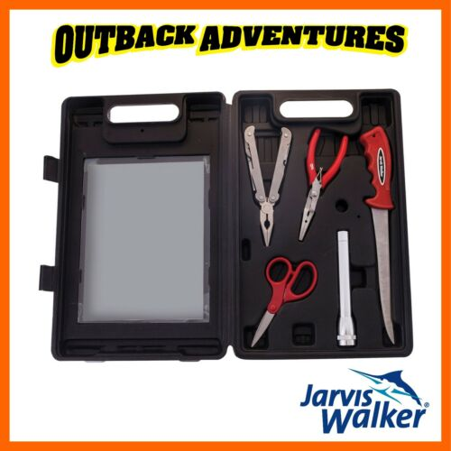 JARVIS WALKER PRO SERIES DELUXE MULTI TOOL KIT FISHING FILLETING KNIFE TORCH