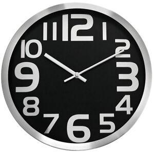Classic-wall-clock-CHERMOND-metal-case-black-dial-no-second-hand