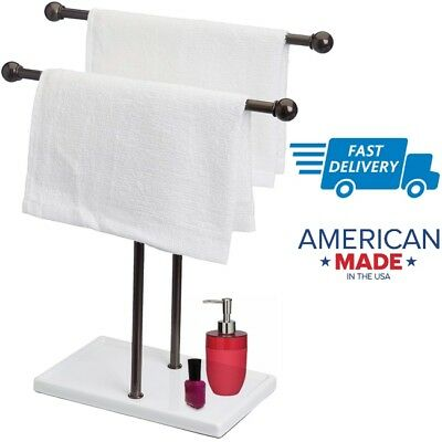 Small Towel Holder Stand Rack For Bathroom Hand Towels Standing
