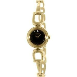 SEIKO-SUJE70-WOMEN-039-S-GOLD-TONE-STEEL-BRACELET-amp-CASE-QUARTZ-ANALOG-WATCH