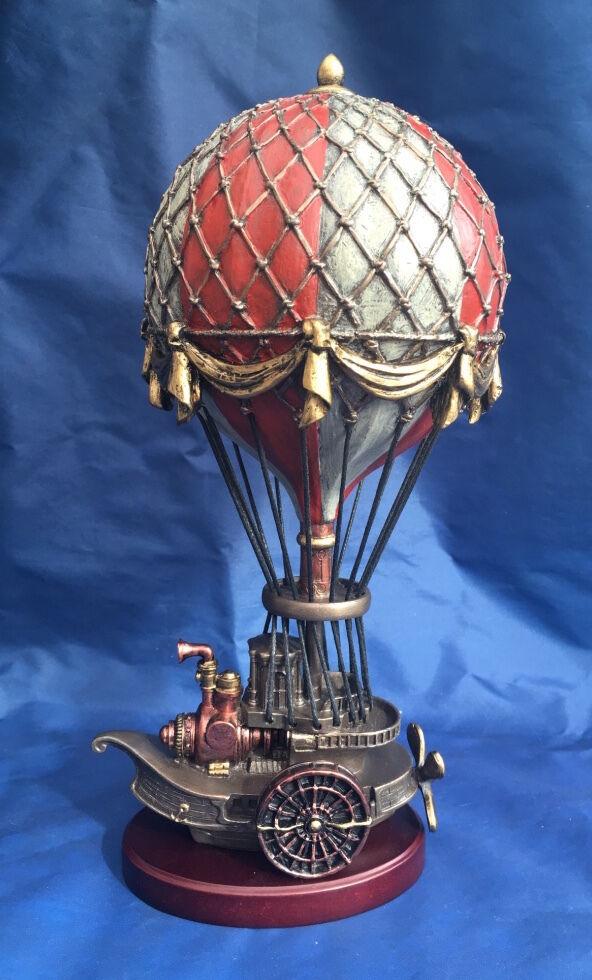 Steampunk BALLOONIST Ornamento Nemesis Now Nuevo En Caja estatuilla Globo barco