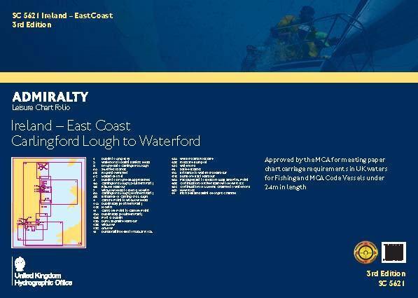 ADMIRALTY LEISURE CHART FOLIO - SC5621 IRELAND E. COAST CARLINGFORD TO WATERFORD