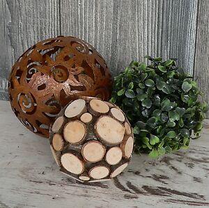 3er set deko kugel metallkugel rost gartenkugel buchskugel for Rost deko kugel