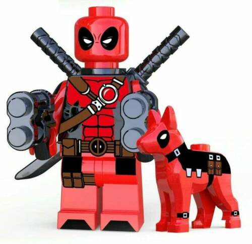 DEADPOOL AND DOG MARVEL COMICS MINIFIGURE FIGURE USA SELLER NEW IN PACKAGE