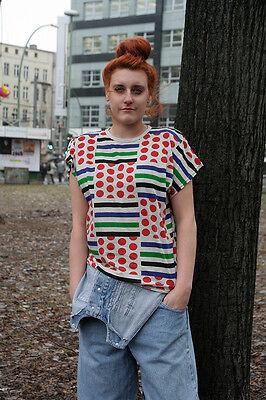 Ben Informato Lubna T-shirt Top 90er True Vintage 90s Shirt With Shoulder Pads Maglia-mostra Il Titolo Originale Con Metodi Tradizionali