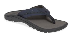 Olukai Kia'i trinchera Azul carbón comodidad II Flip Flop Hombres Tamaños 7-15 Nuevo En Caja
