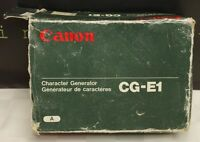 Canon Cg-e1 Character Generator For Video Camera