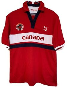 Details about Canada Soccer Jersey Polo Shirt TeePee Sports Red Men's Size Small