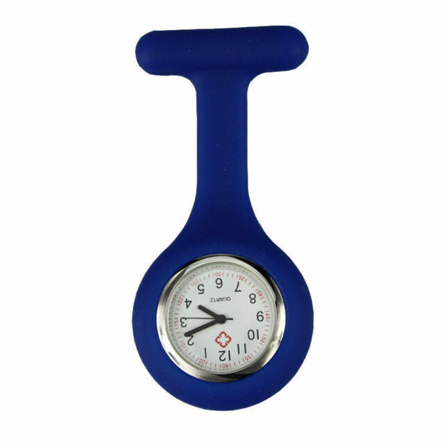 D Blue Silicone Nurse Brooch Tunic Fob Watch Nursing Nurses Pendant Pocket Watch