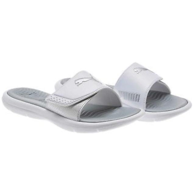 Puma Women s Surfcat Wns Slide Sandals Adjustable Strap Comfort White Size 6 2333f0d15