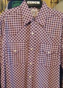 NEW Men/'s Cinch Shirt MT10322014