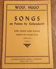 rare HUGO WOLF Songs on Poems by Eichendorff for Voice & Piano Vol. II (2)