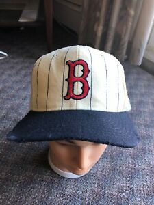 Vintage-starter-Boston-Red-Sox-100-wool-cream-pinstriped