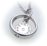 Set Christening Ring Watch & Curb Chain Zirconia 333 White Gold 8kt Golden
