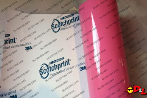 "3M Scotchprint Gloss Hot Pink Wrap Film 12/""x36/"" 3 sq ft."