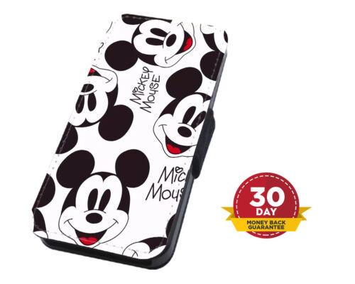 Disney Mickey Mouse Funda para Estuche de Teléfono Abatible De Cara iPhone & Samsung & Huawei
