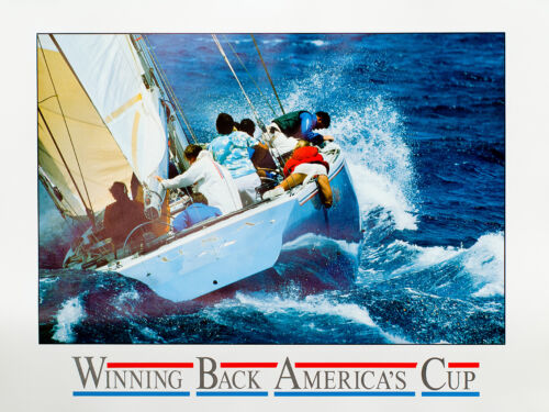 WINNING BACK and FIRST AMERICAN CHALLENGE artist-signed 2 America/'s Cup posters