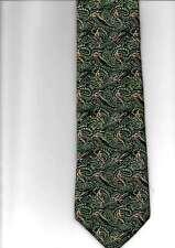 Moodys 100% Tessuto Di Seta Cravatta TURBINE Paisley GIOCO Bird patn colore verde fatta in UK