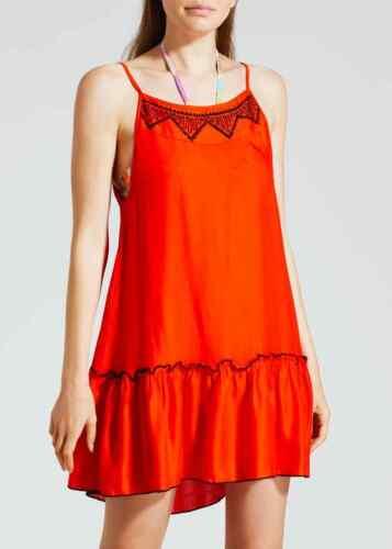 Matalan brodé Swing robe de plage rouge tomate vacances piscine côté CH
