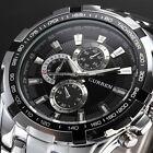 Fashion Curren Mens Stainless Steel Sport Analog Quartz Wrist Watch