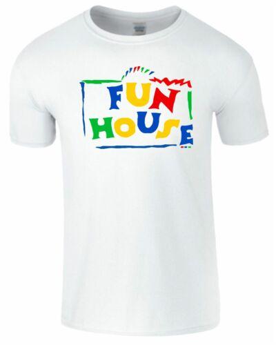 Fun House Homme Enfants T Shirt TV Show drôle 80 s 90 s Parti garçons filles Top T-Shirt