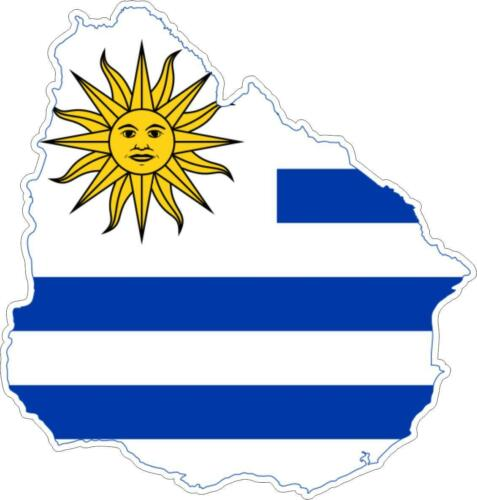 Sticker car moto map flag vinyl outside wall decal macbbook uruguay