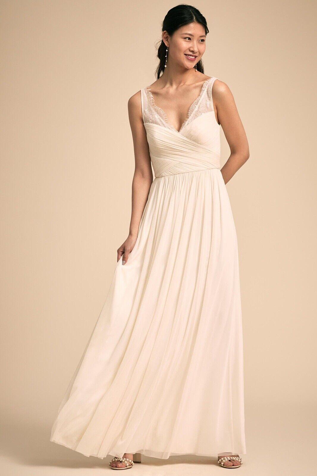 BHLDN Anthropologie Ivory/White Wedding/Prom Dress Size 4