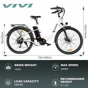 "26"" 36V 350W VIVI Electric Bicycle e-Bike LED 7 Speed Removable Litium Battery-"