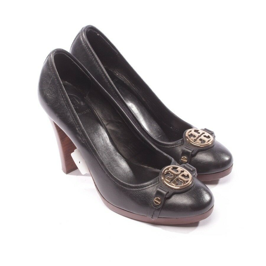TORY BURCH Pumps Gr. D 39,5 US 9 Schwarz Damen Schuhe High Heels Shoes Leder