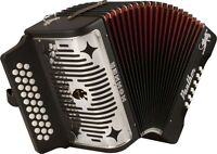 Hohner Panther 31 Key 12 Bass Diatonic Button Accordion, Key: Gcf, Black, 3100gb on Sale